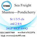 Shantou Port mare che spediscono a Pondicherry