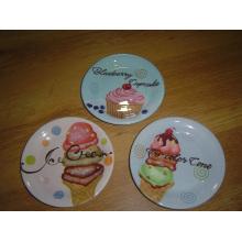 Plato de pastel de cerámica