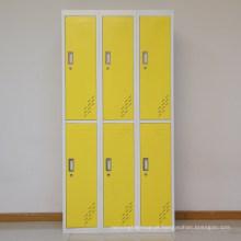Armário da porta do aço 6 do cacifo do armazenamento de roupa dos empregados do supermercado