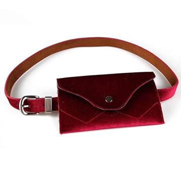 Women Phone Holder Purse Velvet Waist Bag