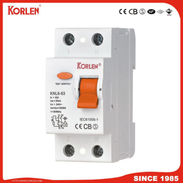 Interruttore differenziale corrente KNL6-63 3KA CE 2P