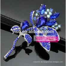 Weihnachtsgeschenk blaue Blumenbrosche
