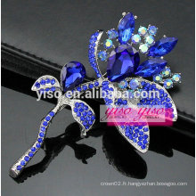Cadeau de Noël broche fleur bleue