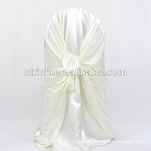 billig und Phantasie satin selbst gebundenen Chair Cover/dekorative satin Rücken gebunden Stuhl Bezug für Hochzeit Bankett hotel