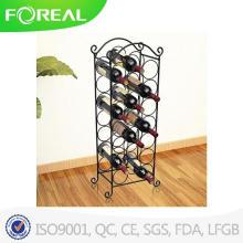 Металлическая проволока черная отделка напольный шкаф вина держатель