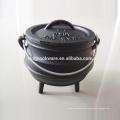 África do Sul três pernas Mini pote de ferro fundido Potjie