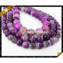 8мм гладкая круглая полоса Агат Loose бисера, Мода Strand шарик для изготовления ювелирных изделий, каменные бусины (AG020)