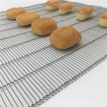 Cinta transportadora de malla de alambre flexible plana de secado de panadería
