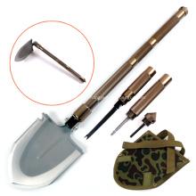 Pala militar de supervivencia de gran tamaño con cuchillo de azada