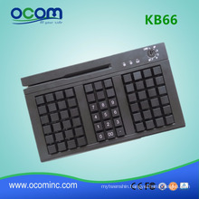 66 keys programmable POS keyboard with card reader