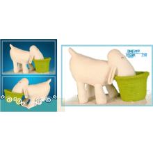 Weiße Plüsch-Hippo-Spielzeug