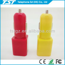 Cube and Cylinder Shape Mini Dual USB 2-port Car Charger Adaptor