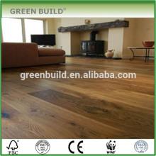 Suelo de madera sólida del roble de Handscraped ligero marrón impermeable