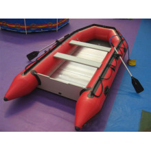 Catch Eye Red Color Inflatable Leisure Boat