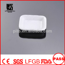 "P&T chaozhou porcelain factory, Wholesale porcelain dishes, ceramic 2.6"" butter saucer for banquet"