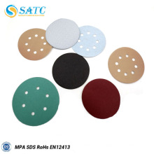 Disco de papel de lija de aro y bucle de óxido de aluminio recubierto de 100 mm para metal y madera