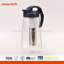 Jarro de água de plástico Tritan de estilo novo BPA GRATUITO de 1L com infusor de frutas Big S / S