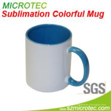 11oz Sublimation beschichtete keramische zweifarbige bunte Tasse
