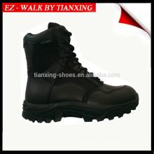 Wasserdicht leichte schwarze Leder Combat Stiefel