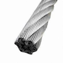 Alambre de acero galvanizado Rop 6 * 37, cable de acero trenzado, certificado de cuerda de alambre de acero