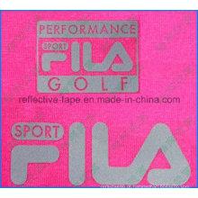 Logotipo reflexivo prateado, logotipo reflexivo de transferência de calor para roupas