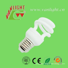 Half Spiral T2-9W Energy Saving Lamp CFL Bulb