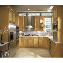 U Shape Australian Standard Granite Countertop Luxury Solid Wood Kitchen Cabinet