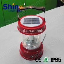 Plástico ABS / transparente PC precio bajo llevó linterna camping solar llevado linterna de la vela