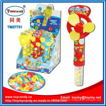 Hot Selling Summer Cute Plastic Mini Fan Toy with Candy