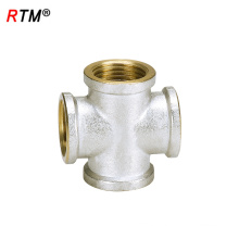 B17 6 8 copper nickel 4 way pipe fitting female equale cross fitting