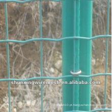 Fábrica revestida PVC da cerca da malha de fio de Holland