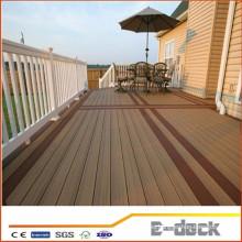 Trit bajo costo de mantenimiento recuperado wpc de plástico de madera plataforma de suelo compuesto de pisos