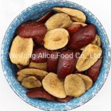 Healthy Fruit Snacks Low Calories Vacuum Fried Crispy Red Jujube Vf Date Chips