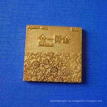 Insignia cuadrada de la medalla del patrón para la decoración de la casa (GZHY-BADGE-027)