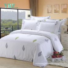 Fashion Style High Quality White Bedsheet Soft for Queen Bed