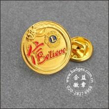 Gold Lapel Botões, Custom Made Badge (GZHY-LP-043)