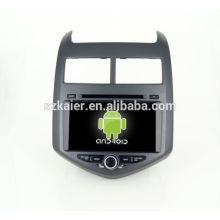 Quad lecteur DVD de voiture de base avec gps, wifi, BT, lien miroir, DVR, SWC pour Chevrolet Aveo