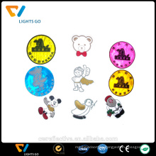 lovely cartoon fluorescent truck reflective sticker for baby car safety warning
