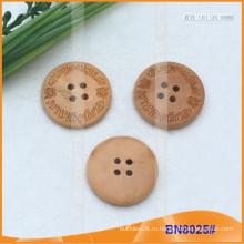 Естественные деревянные кнопки для одежды BN8025