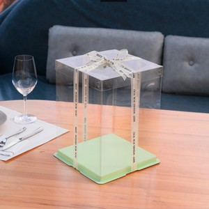 Plastic cake box clear
