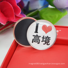Fashionable Cheapest Round Home Crystal Glass Fridge Magnet