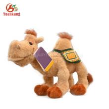 O mini por atacado feito sob encomenda / camelo enchido luxuoso cor-de-rosa dourado grande brinca brinquedos com canto e musical