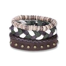 Western Vintage Woven Bracelet Punk Style Sets of Beacelet
