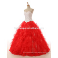 2017 Bride's Wedding Dresses red wedding dress bridal princess wedding dress for photo
