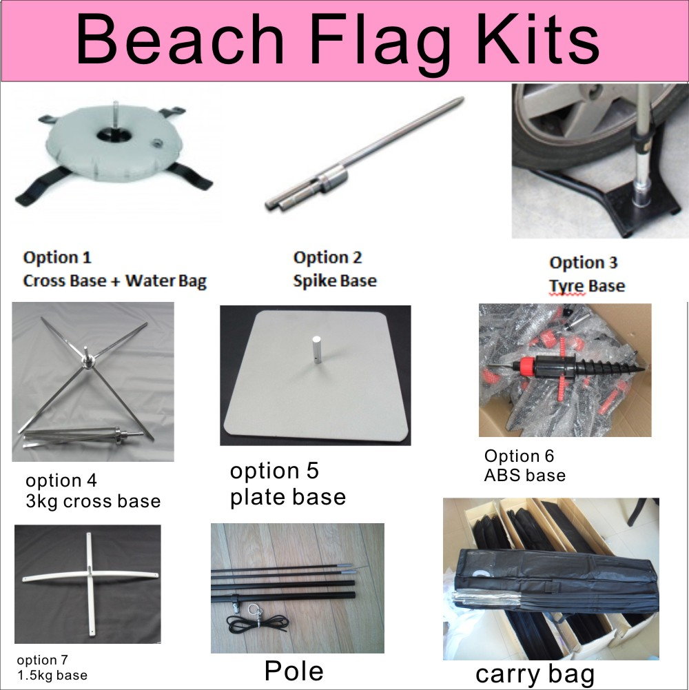 beach flag kits