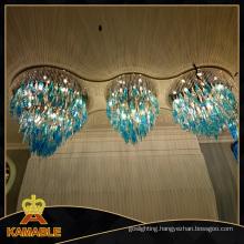 Blue Glass Crystal Decoration Chandelier Ceiling Light (KA0515)