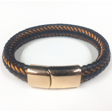 Wire Leather Rope Rose Gold Magnetic Genggam Gelang