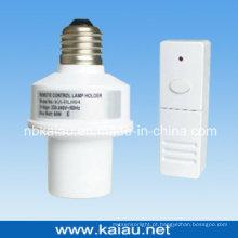 433.92MHz E27 Suporte de lâmpada de controle remoto RF sem fio (KA-RLH04)