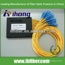 1*32 Fiber Optic PLC Splitter with SC/UPC connectors ABS box type manufacturer with high quality