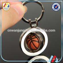 Sports metal crafts series Basketball Keychain